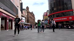 4K Timelapse People Walking, Shopping in Leicester Square, London, Time Lapse Stock Footage