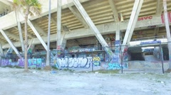 Graffiti at the Marine Stadium Miami Stock Footage