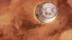 Mars Spaceship Landing Stock Footage