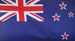 Slow motion of New Zealand flag Stock Footage