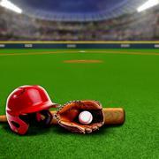 Baseball Stadium With Equipment and Copy Space Kuvituskuvat