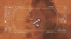 Mars Base from Orbit Stock Footage