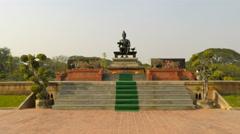 Buddha statue in sukhothai in thailand Stock Footage