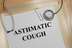 Asthmatic Cough medicial concept - stock illustration