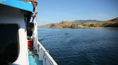 Boat ride in the morning along Komodo island, Indonesia Stock Footage
