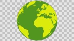 2D Globe Rotate 006 Stock Footage
