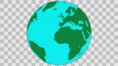 2D Globe Rotate 010 Stock Footage