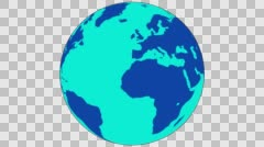 2D Globe Rotate 007 Stock Footage