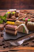 Layered pastries - stock photo