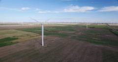 Wind Turbine Aerial - stock footage