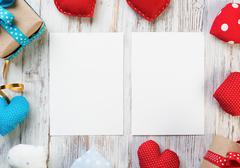Blank paper for writing message Stock Photos