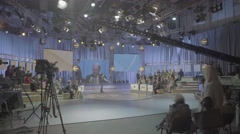 TV Studio during the broadcast Stock Footage