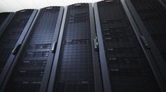 Rack mounted servers Stock Footage