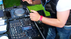 DJ with dance music rhythm - stock footage