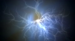 4k Abstract current lightning,magnetic power energy,ions particles fireworks. Stock Footage
