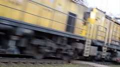 Yellow train Stock Footage