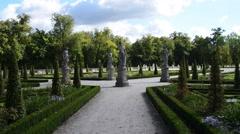 Park near Wilanow Palace, Warsaw, Poland Stock Footage