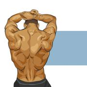Muscular man body Stock Illustration