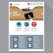 Web design agency site theme layout. Digital background vector illustration. - stock illustration