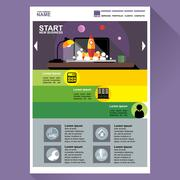 Start new business web site theme layout. Digital background vector. - stock illustration