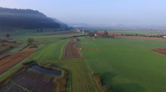 Aerial Footage of Central Switzerland in the early morning, 4K, UHD Stock Footage