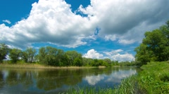 Timelapse of river and clouds - stock footage