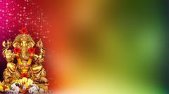 Wedding Background, Ganpati - stock illustration