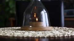 candle being blown out and capped - stock footage