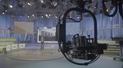 TV Studio before broadcast Stock Footage