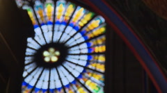 Window detail of Strasbourg Cathedral Stock Footage
