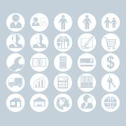 A set of people, business and construction icons. - stock illustration