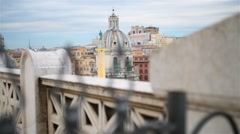 Trajans Column and Basilica Ulpia in Rome, Italy Stock Footage