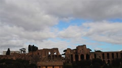 Palatine Hill in Rome, Italy Stock Footage