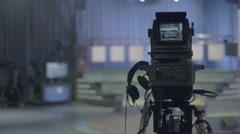 TV equipment in the TV Studio Stock Footage