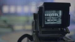 Close-up TV camera in the Studio Stock Footage