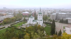 Roman Catholic Church in Irkutsk Stock Footage