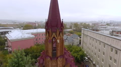 Beautiful Roman Catholic Church in Irkutsk Stock Footage