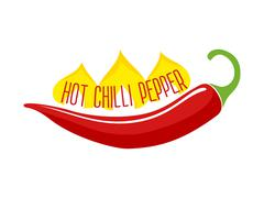 Hot Chili Pepper Pod Single Object - stock illustration