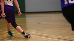 Girls basketball game action Stock Footage