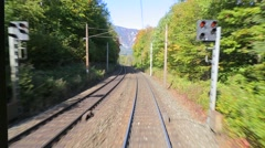 Railway motion view - stock footage