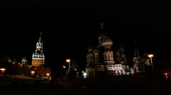Saint Basils Cathedral in Red Square, Moscow Stock Footage