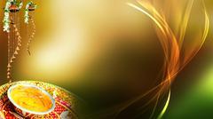 Wedding Background, Haldi - stock illustration