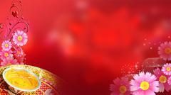 Wedding Background, Haldi Stock Illustration