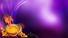Wedding Background, Haldi, Purple, Stock Illustration