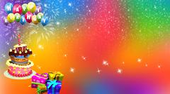 Birthday Background  Colourful Birthday Background - stock illustration