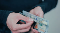 Debt collector received money from the debtor - stock footage