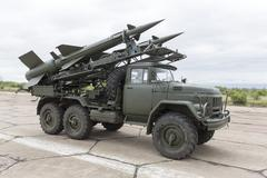 Mobile antiaircraft missile complex Stock Photos
