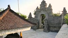 Gate in Pura Luhur Uluwatu temple on Bali, Indonesia Stock Footage