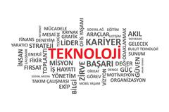 Technology - Turkish Language - stock illustration