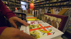 Bookstore / library. Stock Footage